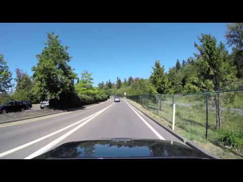 Drive by Boeing Everett Factory / Paine Field in 4K by GoPro HERO4 Part 1