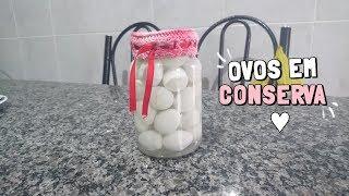 RECEITA DE OVOS DE CODORNA EM CONSERVA