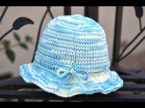 Knitting Pattern For Baby Sun Hat : How to Knit a Sun Hat - YouTube
