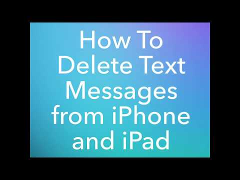 How To Delete Text Messages From iPhone and iPad