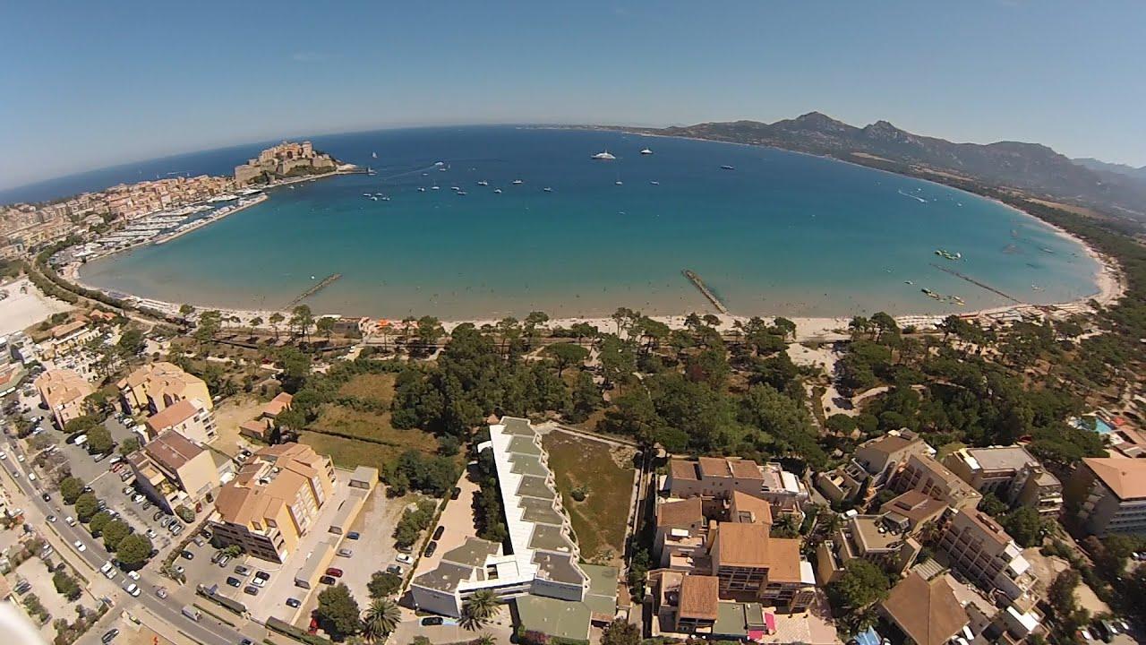Les Castors Camping Calvi Corse aérien - YouTube