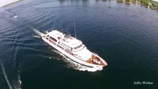 Super Yacht Big Eagle in the Thousand Islands