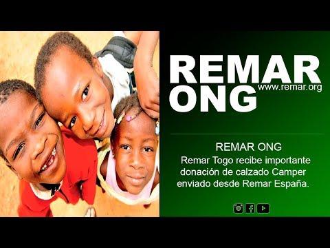 REMAR ONG -  Remar Togo recibe importante donación de calzado Camper enviado desde Remar España.