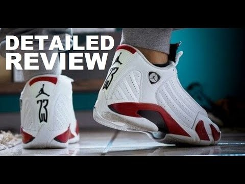 68cf65fc4a0c86 Air Jordan 14 Candy Cane 2019 Retro Rip Hamilton Sneaker Detailed Review  With Sizing