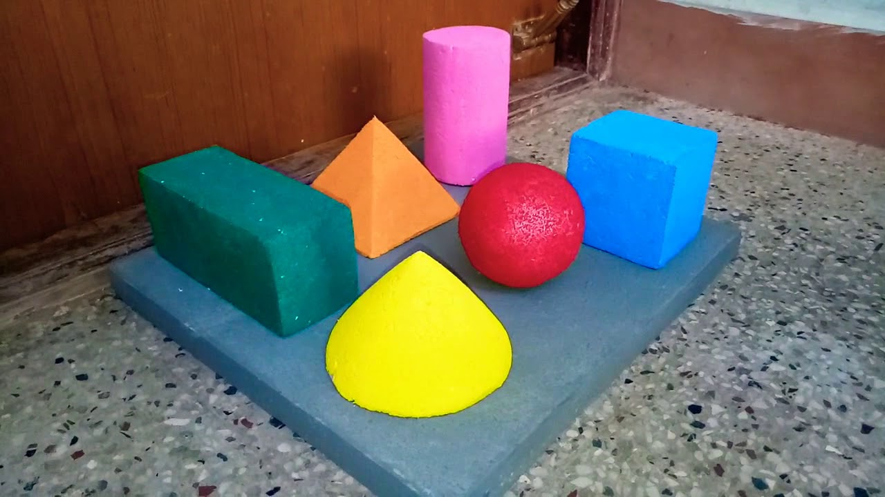 school project mathematic 3d shapes model youtube. Black Bedroom Furniture Sets. Home Design Ideas