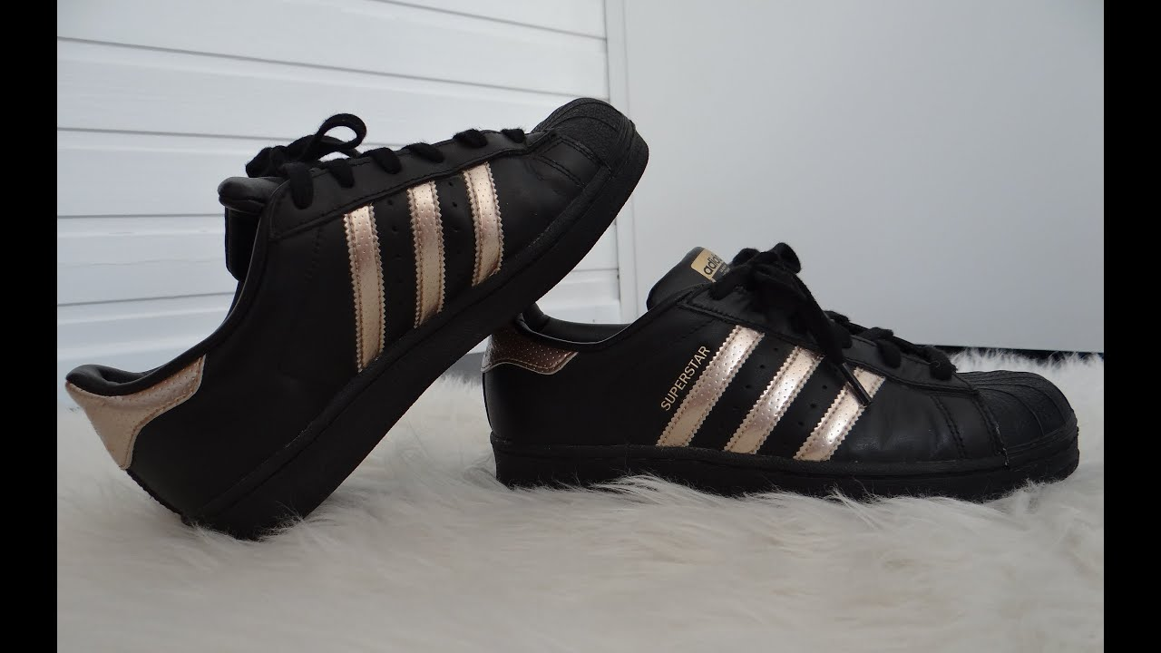adidas superstar black and gold noir et or youtube