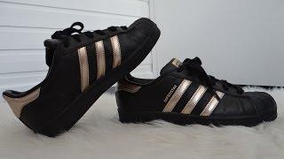 Adidas superstar black and gold ( noir