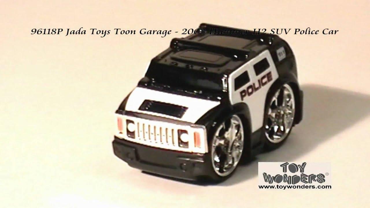 P Jada Toys Toon Garage 2003 Hummer H2 SUV Police Diecast