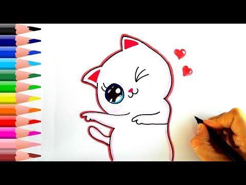 Sevimli Kedi Nasıl Çizilir? - How To Draw A Cute Cat