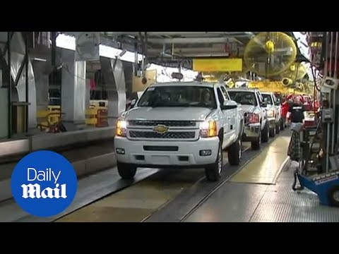 A look inside General Motors headquarters and assembly plants