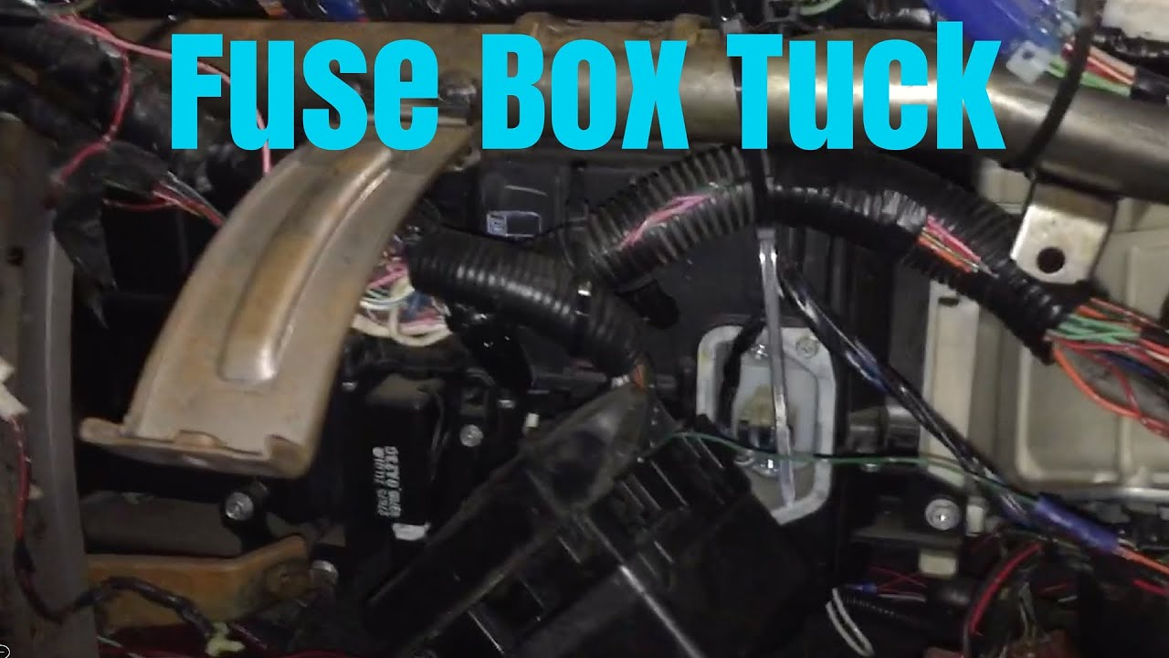 240sx build update #5 | fuse box tuck #thatburgundybuild ... 1995 nissan 240sx interior fuse box diagram