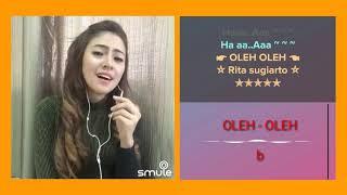 Oleh -Oleh Rita sugiarto ( cover babyshima )   karaoke smule duet dangdut indonesia