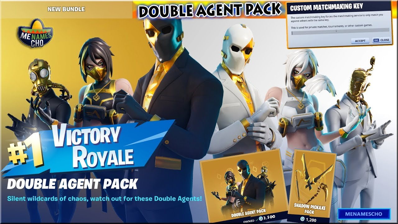 💥FORTNITE Double Agent Pack Gameplay 🔵 Customs ⚡ LIVE - 10th July 2020 (Fortnite Battle Royale)