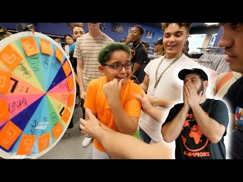 YEEZY SPIN WHEEL GAME! (HE ACTUALLY CRIED)