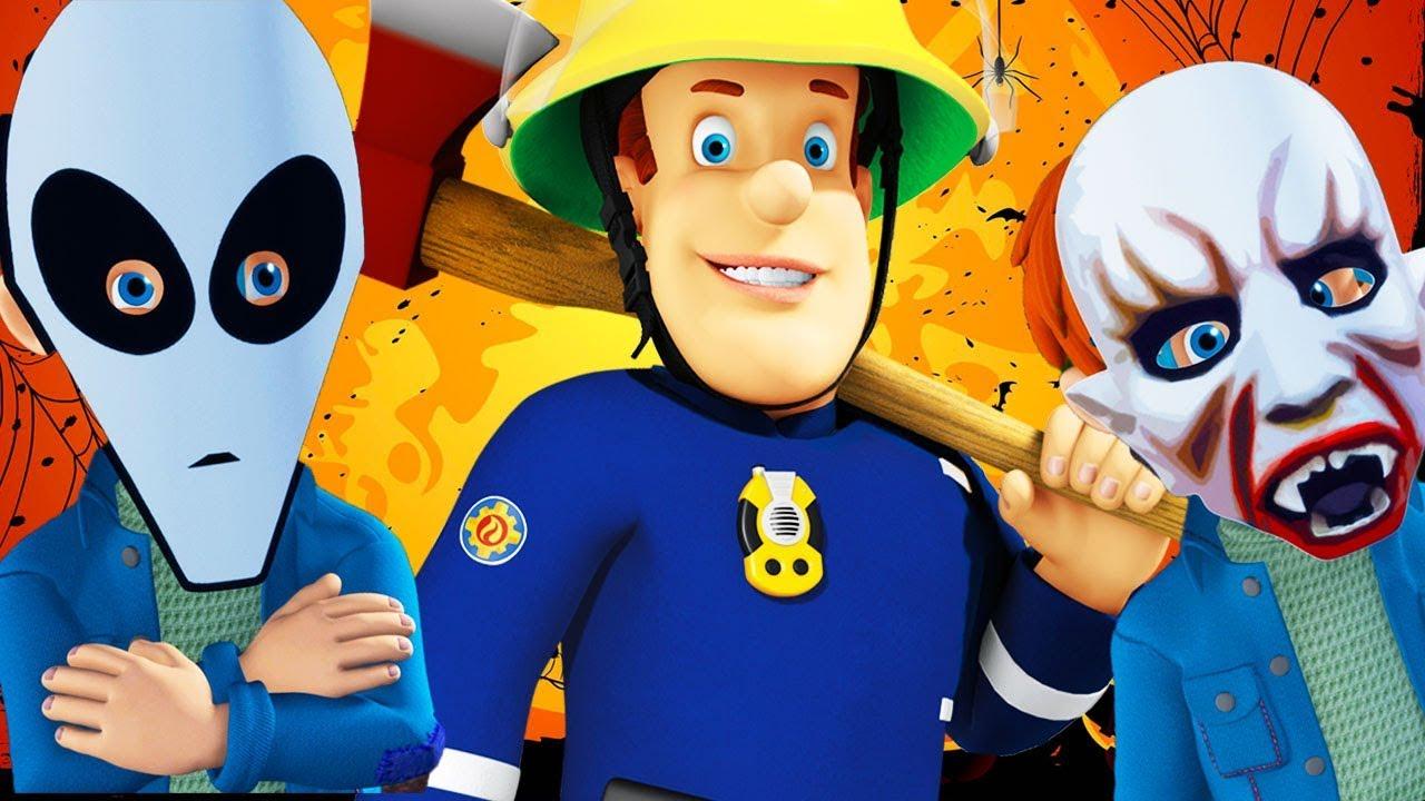 Sam le pompier en francais feu la f te d 39 halloween episode complet dessin anim youtube - Sam le pompier dessin anime en francais ...