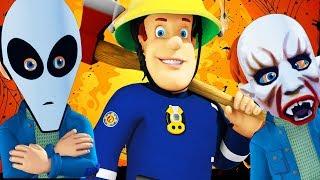 Sam le Pompier en francais : Feu à la fête d'Halloween |  Episode complet | Dessin animé