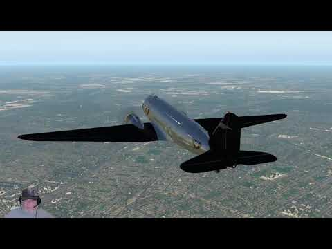 X-Plane 11 33r2 AeroWorx DC-3 KRBD to KGSP