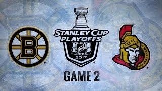 Phaneuf's OT goal lifts Sens past Bruins in Game 2