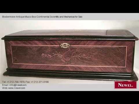 Biedermeier Antique Music Box Continental Scientific and