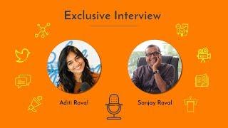 Sanjay Raval with Social Media Infotainer Aditi Raval   Gujarati   woman solopreneur