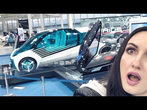 Япония, Токио: 1 день. Метро. Остров Одайба. Машины будущего. Роботы. Осены - горячие источники