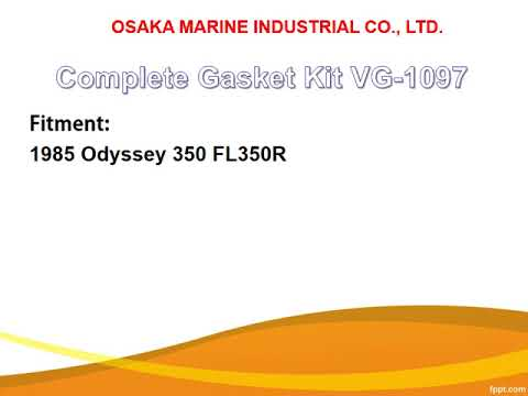 Honda ATV gasket Kit VG-1097, VG-5097 for 1985 Odyssey 350 FL350R.