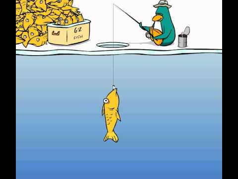 How To Catch The Mullet - Ice Fishing (Club Penguin)