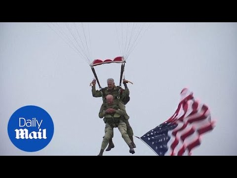 97-year-old Parachutist Tom Rice Jumps On 75th D-Day Anniversary