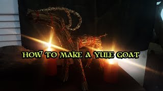 In this video we show you how to make a yule goat, believed be an ancient pagan tradition. drottin on facebook: https://www.facebook.com/drottinreenactmen...