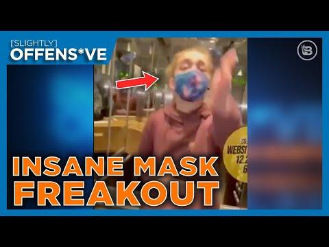 Hilarious Mask Meltdown CAUGHT on Camera   Slightly Offens*ve