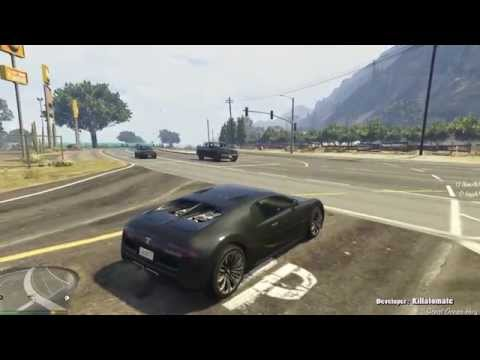 GTA V: Driving 415 kmh with Realistic Physics (Bugatti Veyron, Realistic Driving mod)