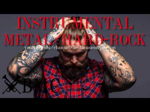 Heavy metal hard rock music instrumental...