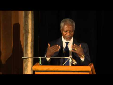 Kofi Annan Part 1, Speech, September 18, 2012 - Bon Mot Book Club