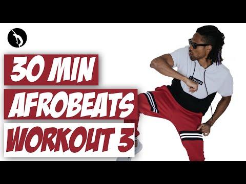 African Dance Online Workout 3 - 30 min Afrobeats Dancehall Afrohouse
