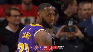 Los Angeles Lakers vs Portland Trail Blazers 1st Qtr Highlights | Dec 6, 2019-20 NBA Season