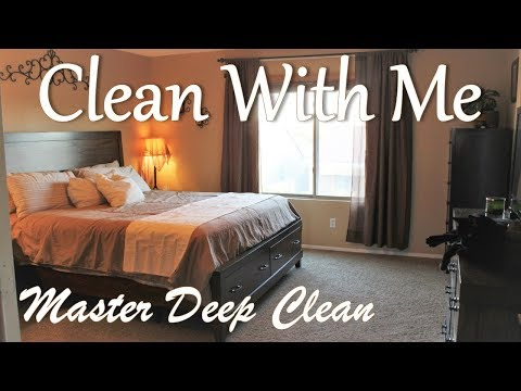 CLEAN WITH ME   MASTER BEDROOM DEEP CLEAN   DECORATE   SAHM   WITH A BABY