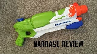 Nerf Super Soaker Barrage Unboxing, Range Demo & Firing Test
