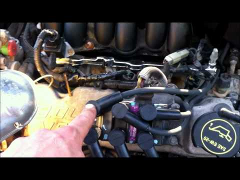 replace ford taurus spark plugs and wires 3 0 ohv vulcan. Black Bedroom Furniture Sets. Home Design Ideas