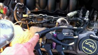 2003 ford taurus spark plug and wire replacement - youtube  youtube