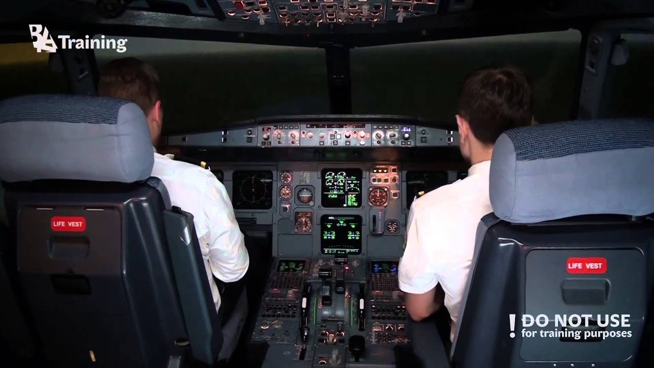 Airbus A320 Engine #1 flameout in cruise - Baltic Aviation Academy - A320 Type Rating - YouTube
