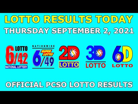 9pm Lotto Result September 2 2021 (Thursday) PCSO Today