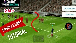 Trick to Perform Knuckle shot Perfectly in Freekick | PES 19 Mobile