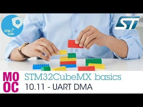 STM32CubeMX basics: 10 11 STM32Cube HAL labs UART - UART DMA - YouTube