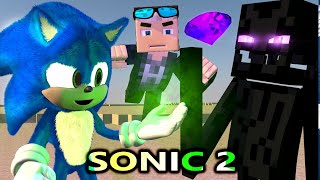 SONIC THE HEDGEHOG MOVIE IN MINECRAFT 2! Ft. Villagers (official) Minecraft Animation Series