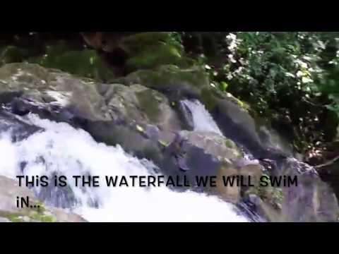 Stacy Westfall clinic in Costa Rica...swim in a waterfall!
