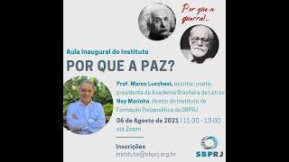 Vídeo introdução - Aula Inaugural do Instituto: PORQUE A PAZ?  - 06/08/2021