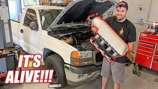 "James' Burnout Truck ""White Trash"" COMES TO LIFE!!! (Well Sorta...)"
