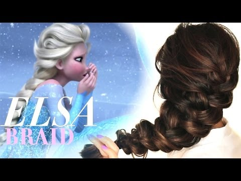 FROZEN ELSA'S messy BRAID HAIR TUTORIAL