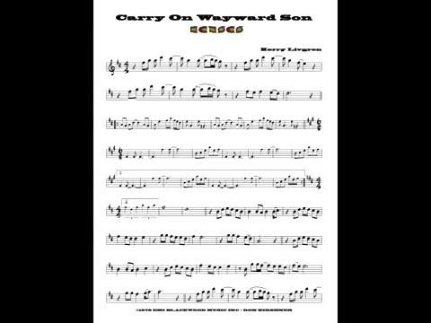 Carry On Wayward Son Kansas Tenor Sax Cover Youtube