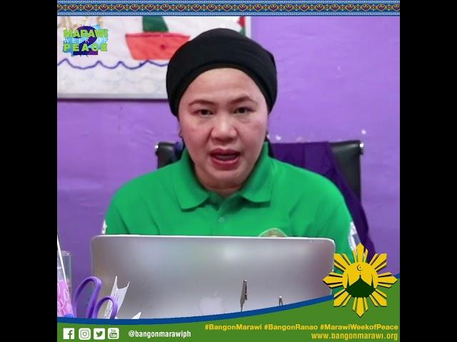 #MessageofPeace from ASDS Anna Zenaida Unte-Alonto of DepEd Marawi